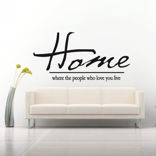 Wall Chimp Home People Who Love You Quote Wall Sticker