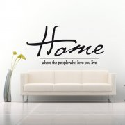 Home People Who Love You Quote Wall Sticker