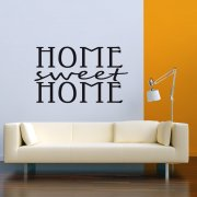 Home Sweet Home Classic Wall Sticker Quote