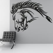 Horse Head Tribal Wall Sticker