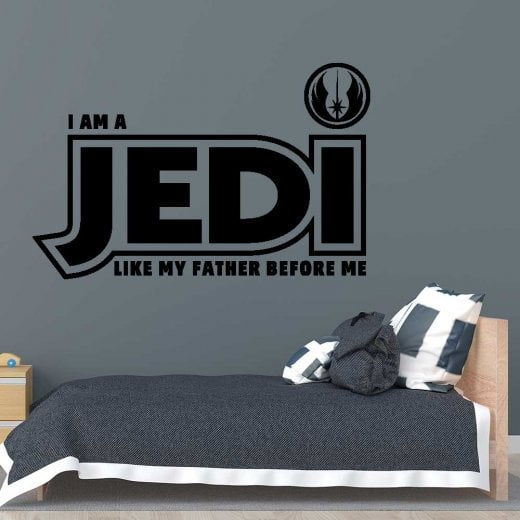 Wall Chimp I Am A JEDI Wall Sticker