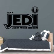 I Am A JEDI Wall Sticker