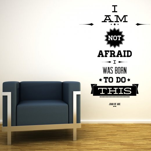 Wall Chimp I Am Not Afraid Wall Sticker Quote