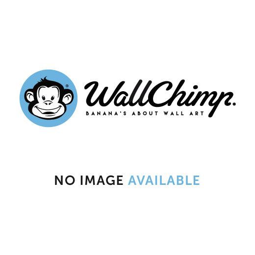 Wall Chimp I Love Football Printed Wall Sticker