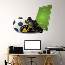 I Love Football Printed Wall Sticker