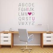 I Love You Alphabet Printed Wall Sticker