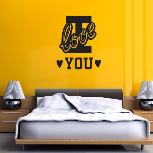 Wall Chimp I Love You College Wall Sticker Quote