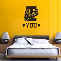 I Love You College Wall Sticker Quote