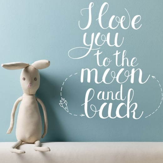 Wall Chimp I Love You To The Moon & Back Wall Sticker