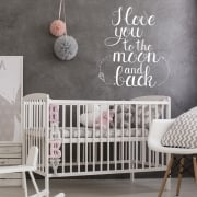I Love You To The Moon & Back Wall Sticker