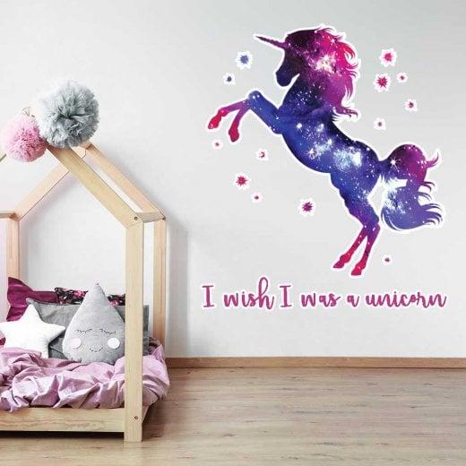 Wall Chimp I Wish I Was A Unicorn