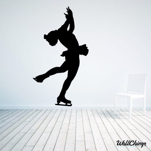 Wall Chimp Ice Skater Three Wall Sticker