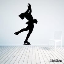 Ice Skater Three Wall Sticker