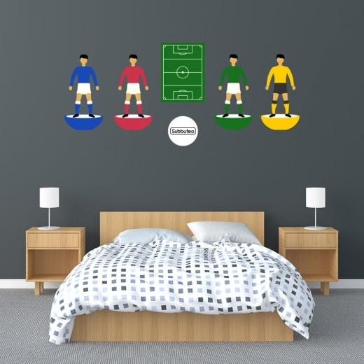 Wall Chimp Icon Subbuteo Football Set Printed Wall Sticker
