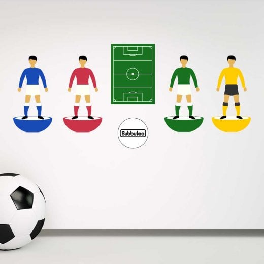 Wall Chimp Icon Subbuteo Football Set Printed Wall Sticker