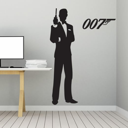 Wall Chimp James Bond 007 Wall Sticker
