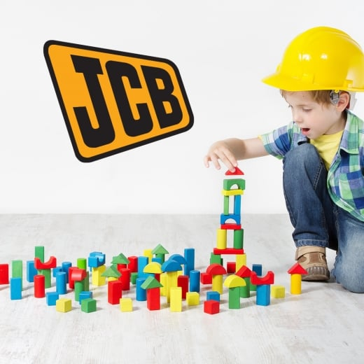 Wall Chimp JCB Badge Printed Wall Sticker