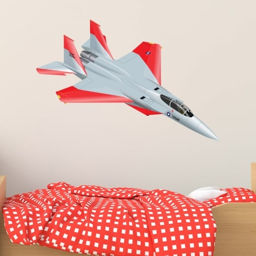Wall Chimp Jet Fighter Printed Wall Sticker