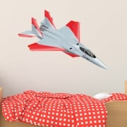 Jet Fighter Printed Wall Sticker