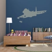 Jet Fighter Wall Sticker