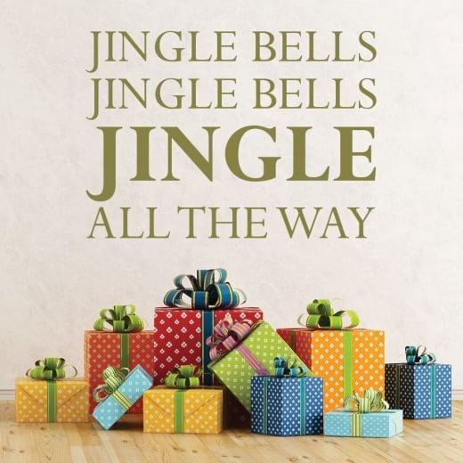 Wall Chimp Jingle Bells, Jingle Bells Wall Sticker