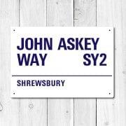 John Askey Way, Shrewsbury Metal Sign