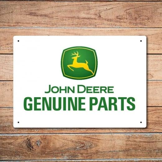 Wall Chimp John Deere Genuine Parts Metal Sign
