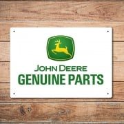 John Deere Genuine Parts Metal Sign