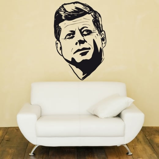 Wall Chimp John F Kennedy Wall Sticker