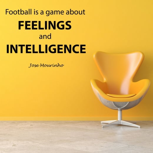 Wall Chimp Jose Mourinho Football Quote Wall Sticker