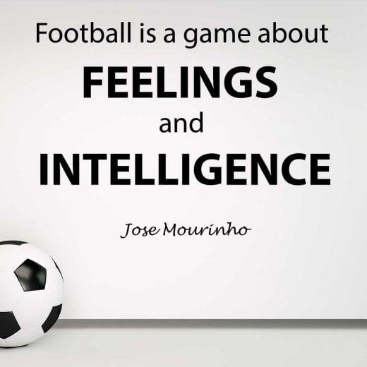 Wall Chimp Jose Mourinho Football Quote Wall Sticker