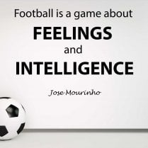 Jose Mourinho Football Quote Wall Sticker