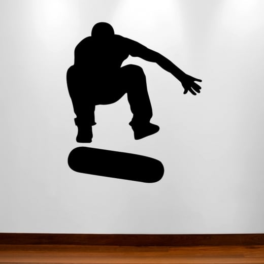 Wall Chimp Jumping Skateboarder Wall Sticker