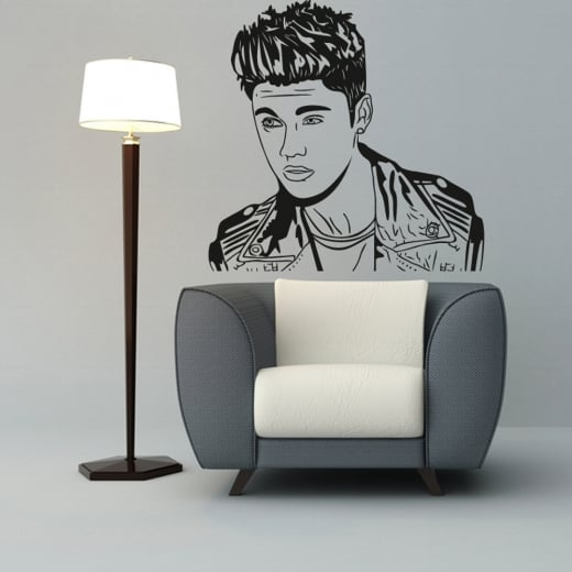 Wall Chimp Justin Bieber Wall Sticker Part 31