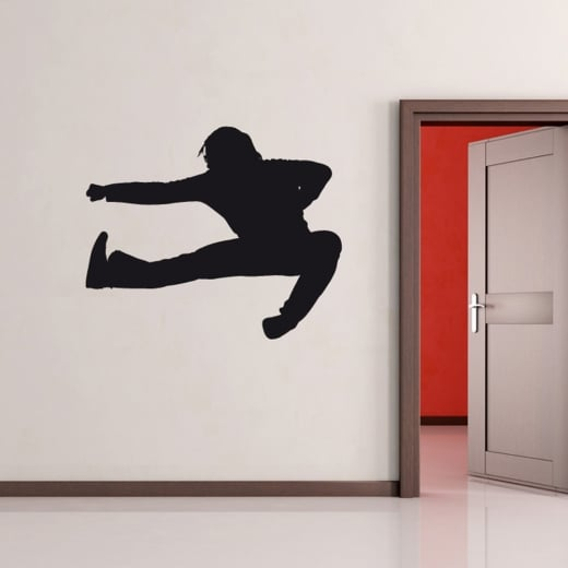 Wall Chimp Karate Kick Wall Sticker