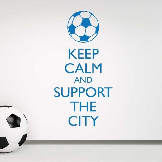 Wall Chimp Keep Calm And Support The City Wall Sticker