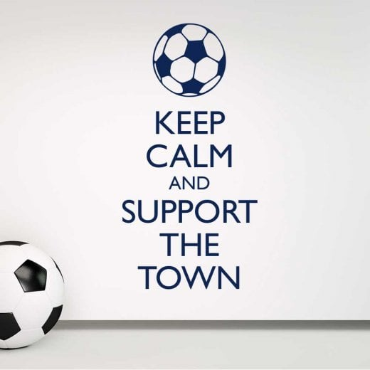 Wall Chimp Keep Calm And Support The Town Wall Sticker