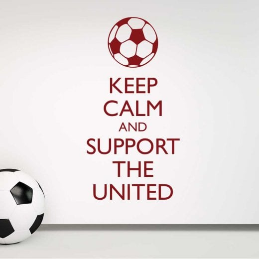 Wall Chimp Keep Calm And Support The United Wall Sticker