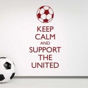 Keep Calm And Support The United Wall Sticker