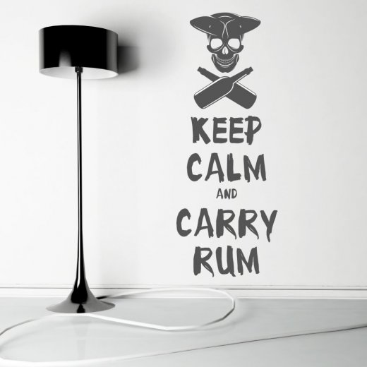 Wall Chimp Keep Calm Carry Rum Wall Sticker Quote