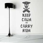 Keep Calm Carry Rum Wall Sticker Quote