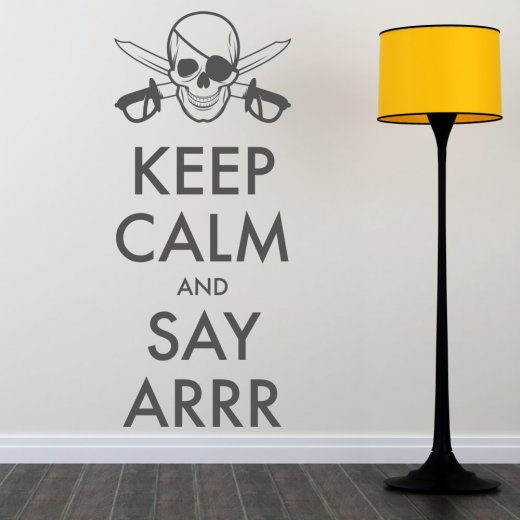 Wall Chimp Keep Calm Pirate Wall Sticker Quote