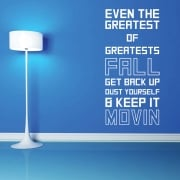 Keep Movin Motivational Sports Wall Sticker Quote