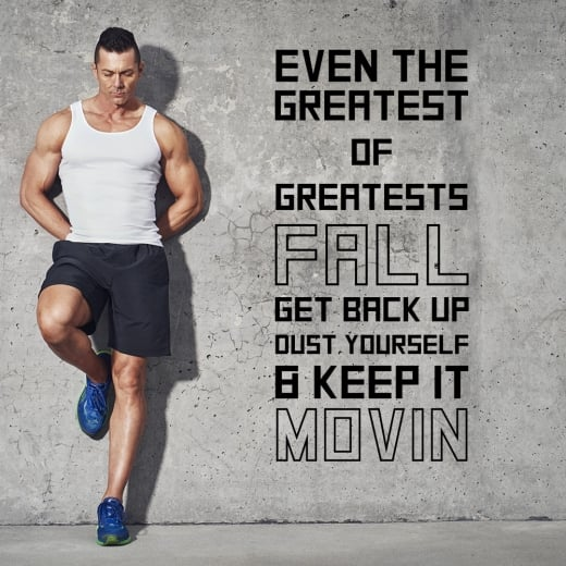 Wall Chimp Keep Movin Motivational Sports Wall Sticker Quote