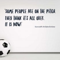 Kenneth Wolstenholme Football Quote Wall Sticker