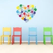 Kids Love Hands Wall Sticker