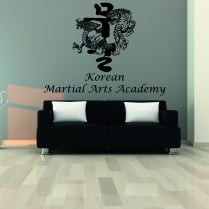 Korean Martial Arts Academy Custom Wall Sticker WC794QT