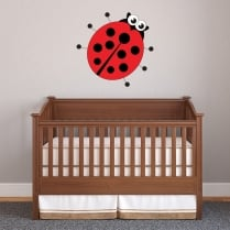 Ladybird Printed Wall Sticker