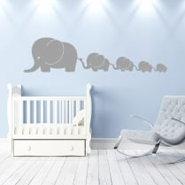 Large Elephant Family Wall Sticker
