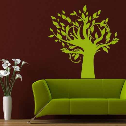 Wall Chimp Leaf Tree Wall Sticker